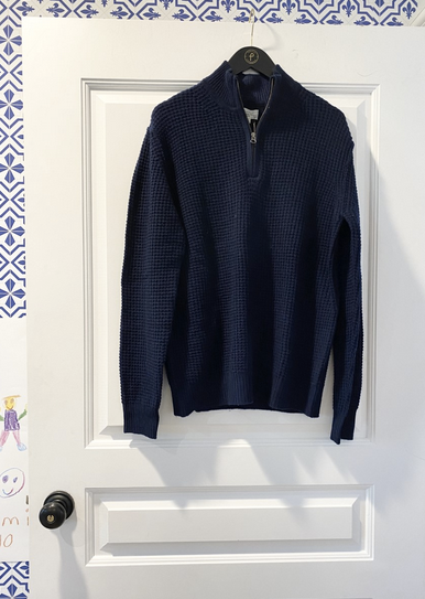 1/4 Zip Sweater by Hartford in Grey, Blue or Brown - The Perfect Provenance