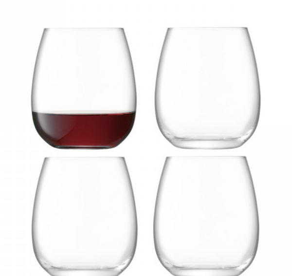 Borough Stemless Glass x4 by LSA - The Perfect Provenance