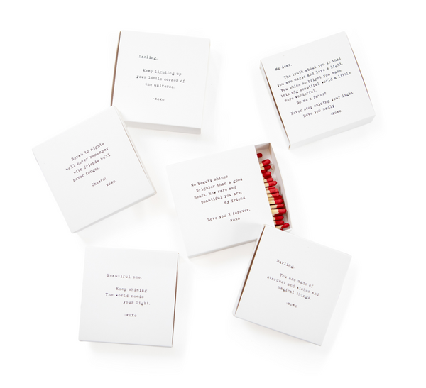 Assorted Matches with Quotes by Sugarboo - The Perfect Provenance