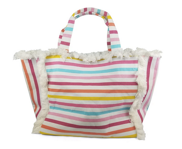 Multi Fray Edge Tote by Hat Attack