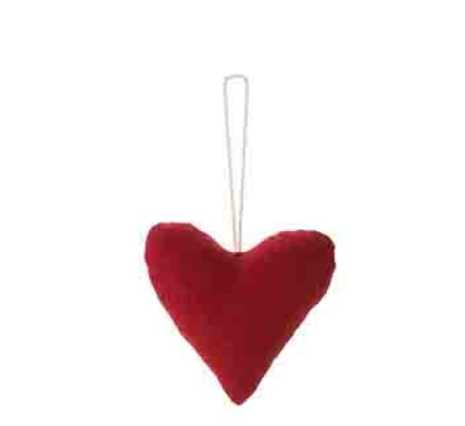 Red Cotton Heart Ornament by Fiorira un Giardino - The Perfect Provenance