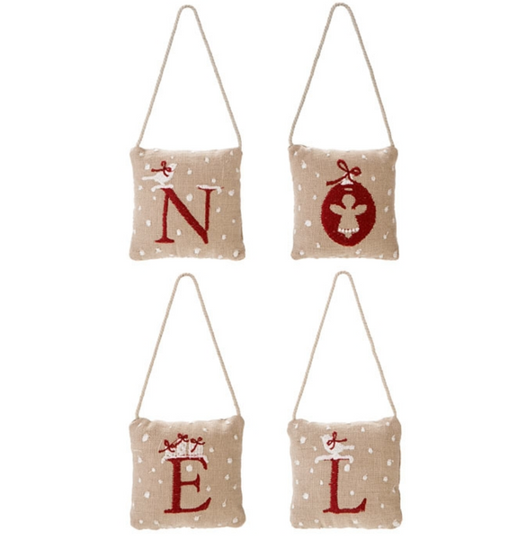 Embroidered Pillows Noel (Christmas) by Fiorira un Giardino - The Perfect Provenance