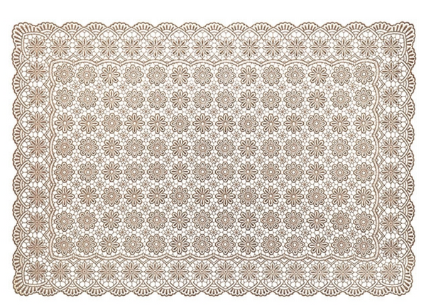 Linen Vinyl Waterproof Soft Placemat Flower Decoration by Fiorira un Giardino - The Perfect Provenance