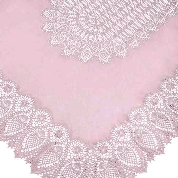 Vinyl Rectangle Lace Table Cloth in White or Pink By Fiorira Un Giardino - The Perfect Provenance