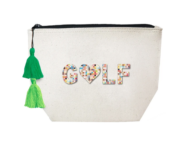Golf Cosmetic Canvas Bag by Fallon & Royce