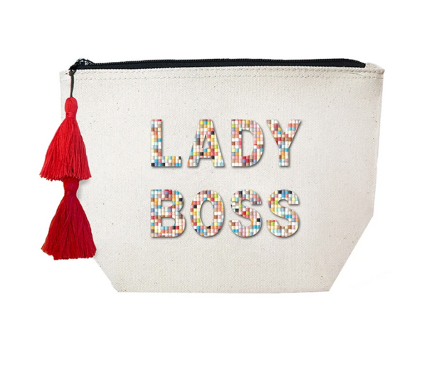 Lady Boss Confetti Cosmetic Case by Fallon & Royce