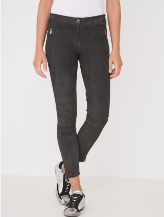 suede, leather pant, repeat cashmere
