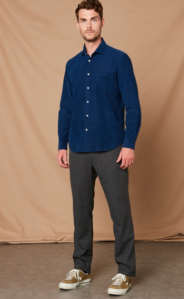 Navy Corduroy Shirt by Hartford