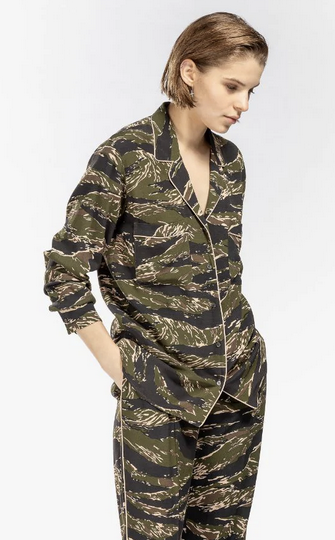 blouse, camo, No.21, italian
