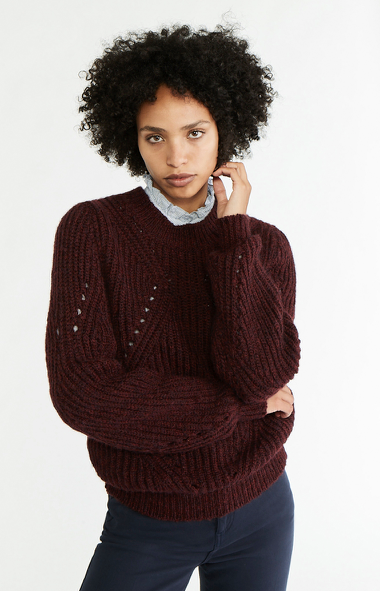 Philae Burgundy Sweater by Vanessa Bruno
