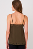 Silk Camisole in Khaki or Taupe by Repeat Cashmere