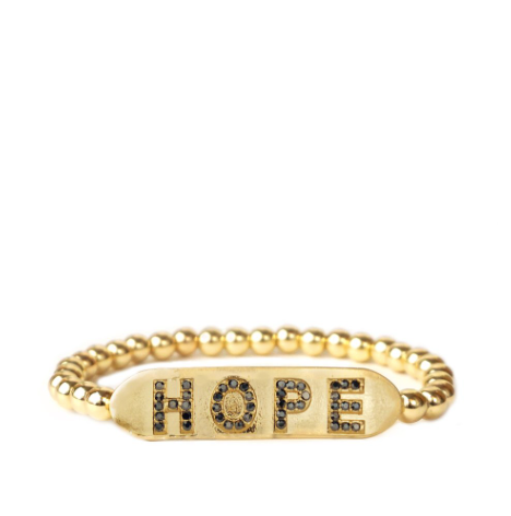 HOPE Beaded Bracelet in Gold or Silver by Marlyn Schiff