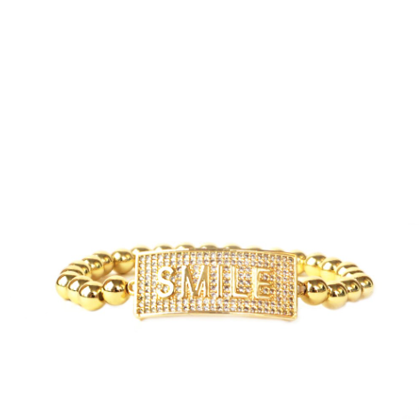 Pave SMILE Bracelet in Gold or Silver by Marlyn Schiff