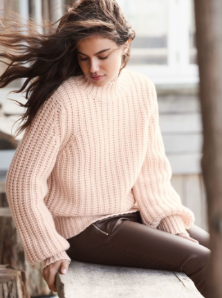 repeat cashmere, sweater, pink, chunky, belgium