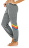 Light Grey Chevron Rainbow Sweatpants by Aviator Nation