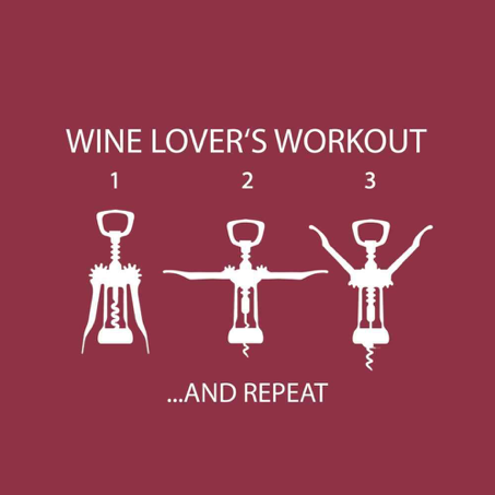 Wine Lover's Workout Cocktail Napkins by Paper Products