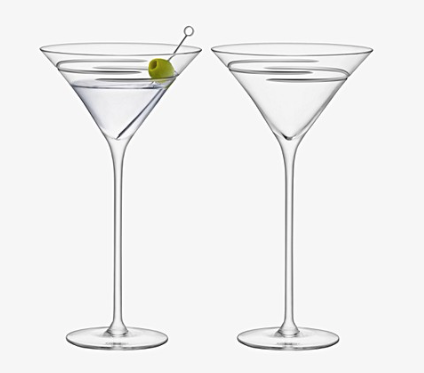 Verso Cocktail Glass Set of 2 By LSA