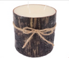 Tall Log Wood Candle