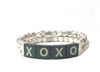 XOXO Tile Bracelet in Gold or Silver by Marlyn Schiff