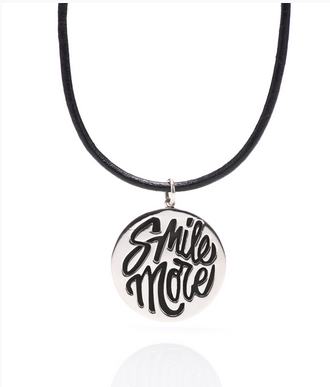 Silver Smile More Disc Pendant