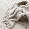 Chunky Knit Grey Throw by Pine Cone Hill