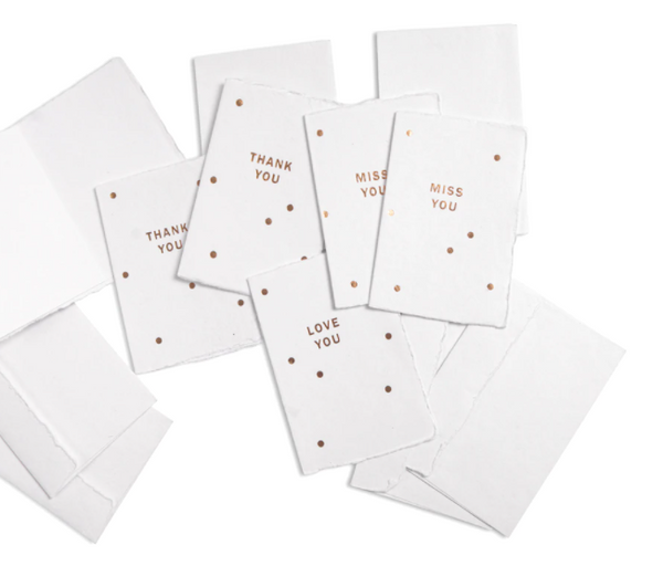 Deckled Gold Foil Greeting Cards by Sugarboo