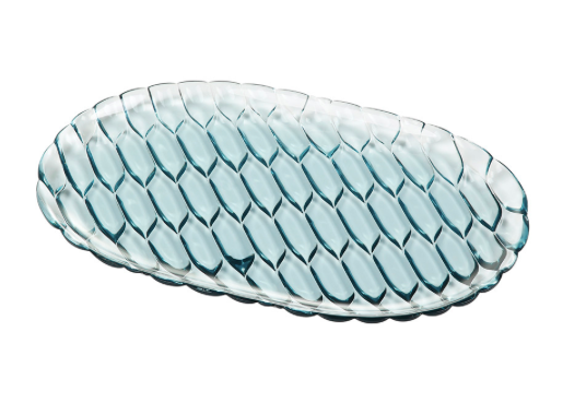 Jellies Tray in Crystal and Blue by Kartell