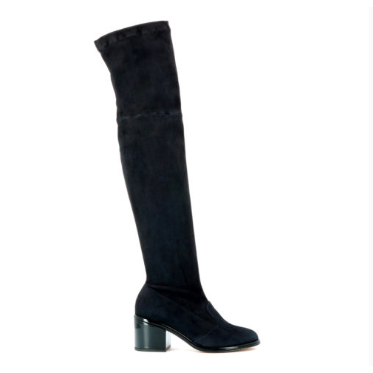 Black-Suede-Boot-Robert-Clergerie