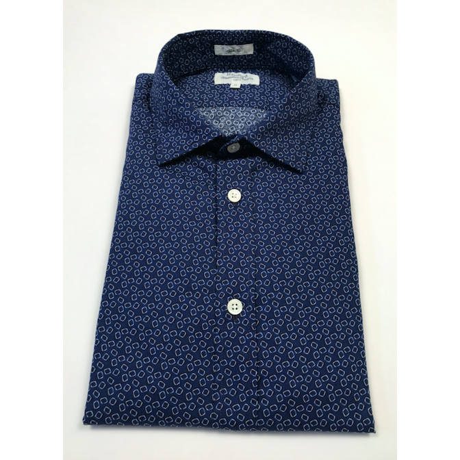 Geometric Navy Button Down by Hartford - The Perfect Provenance