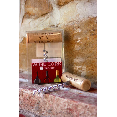 Wine Cork Corkscrew  By Paper Products - The Perfect Provenance