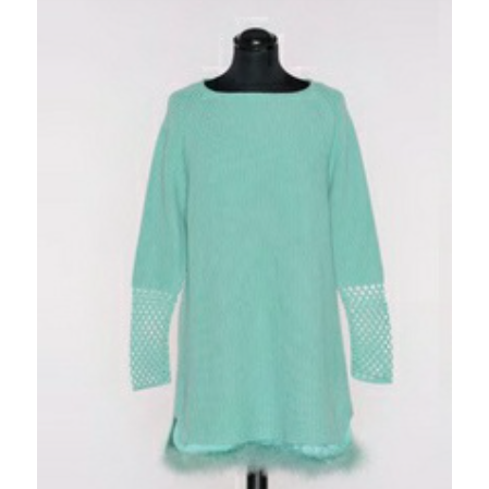 Knit Sweater Dress in Sherbert Green or Pink by Twin-set - The Perfect Provenance