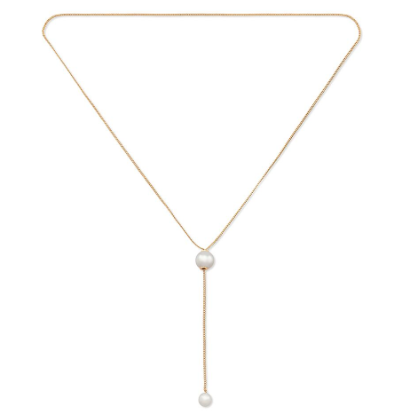 Ohara Gold Drop Pearl Necklace by Vita Fede - The Perfect Provenance