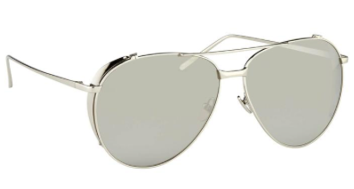 White Platnium Aviators by Linda Farrow - The Perfect Provenance