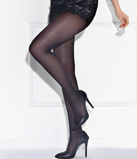 Perfect Chic Nearly Black Tights by Le Bourget