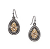 Tear Drop Crystal Earrings in Three Colors  by Marlyn Schiff