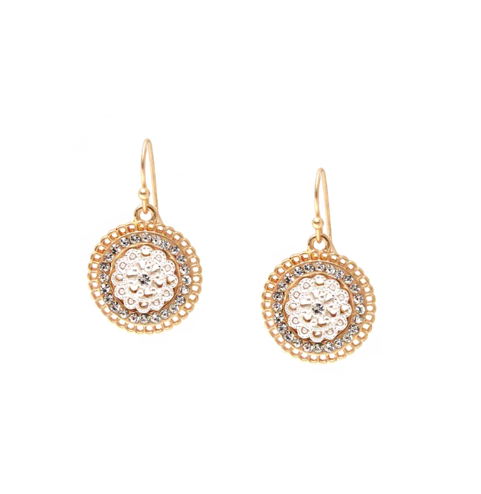Rounded Drop Crystal Earrings in Three Colors by Marlyn Schiff - The Perfect Provenance