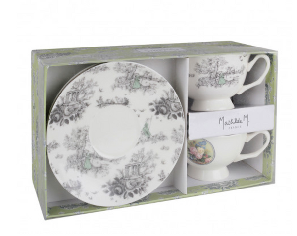 Amour d'Astrée Tea Cups Gift Box Set by Mathilde Creations