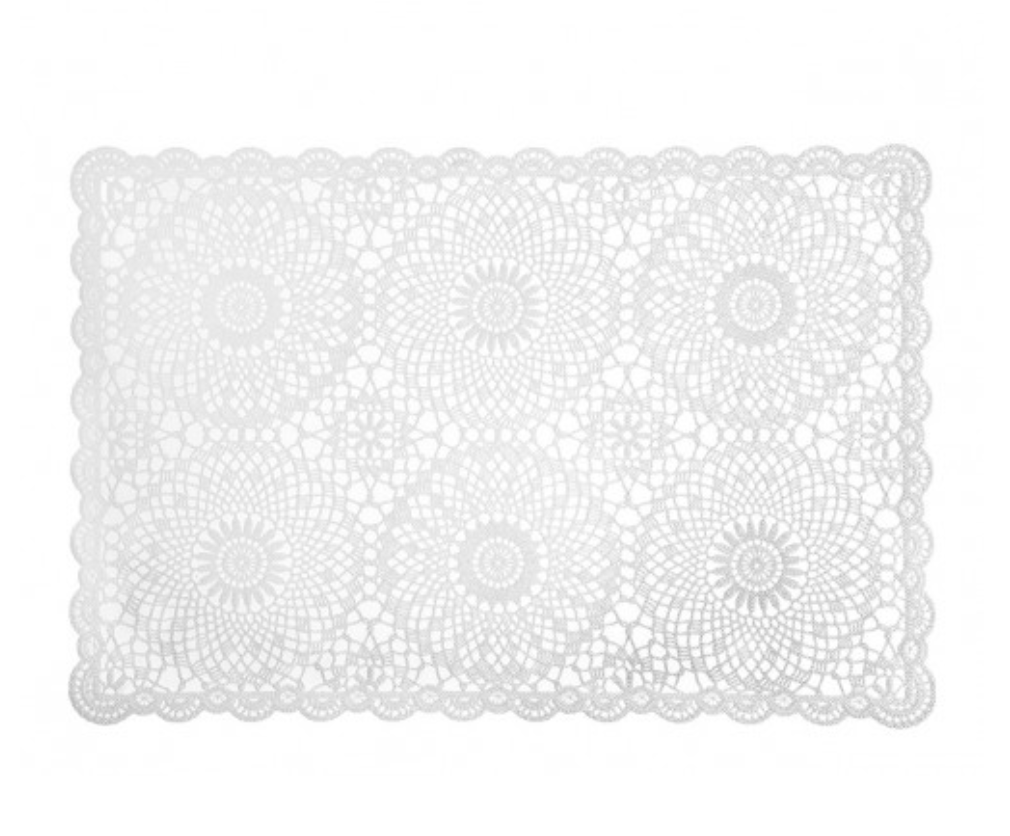 White Vinyl Lace Placement by Mathilde Creations