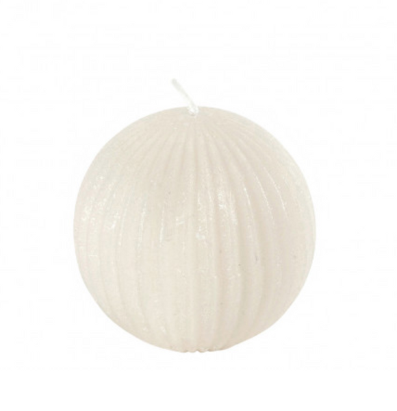 Ribbed Round Candle by Mathilde Creations - The Perfect Provenance
