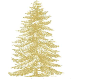 Gold Engraved Tree Napkins by Paper Products