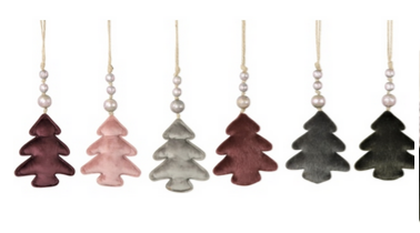 Velvet Tree Ornaments in Festive Colors by Hoff Interieur - The Perfect Provenance