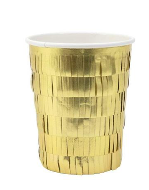 Gold Fringe Party Cups by Meri Meri - The Perfect Provenance