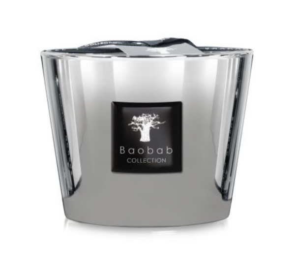 Les Exclusives Platinum Candle in Two Sizes by Baobab Collection