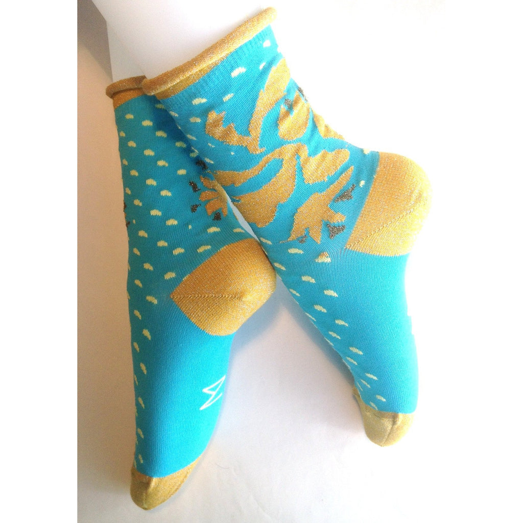 Toulouse Sock in Turquoise by Nicolas Messina - The Perfect Provenance