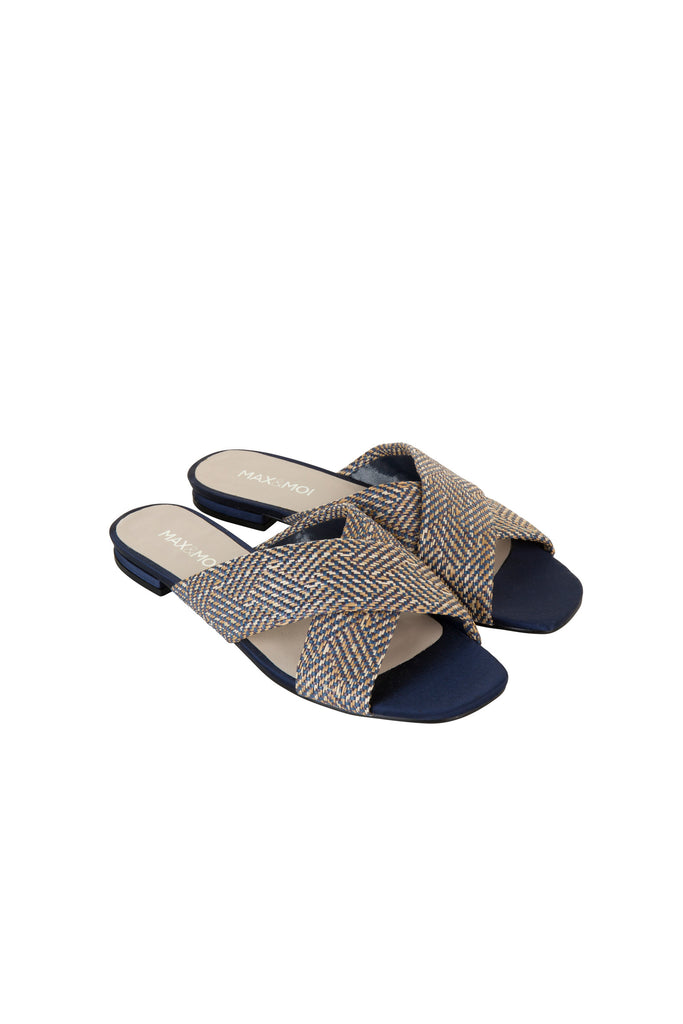 Ginza Navy Mule Sandal by Max & Moi - The Perfect Provenance