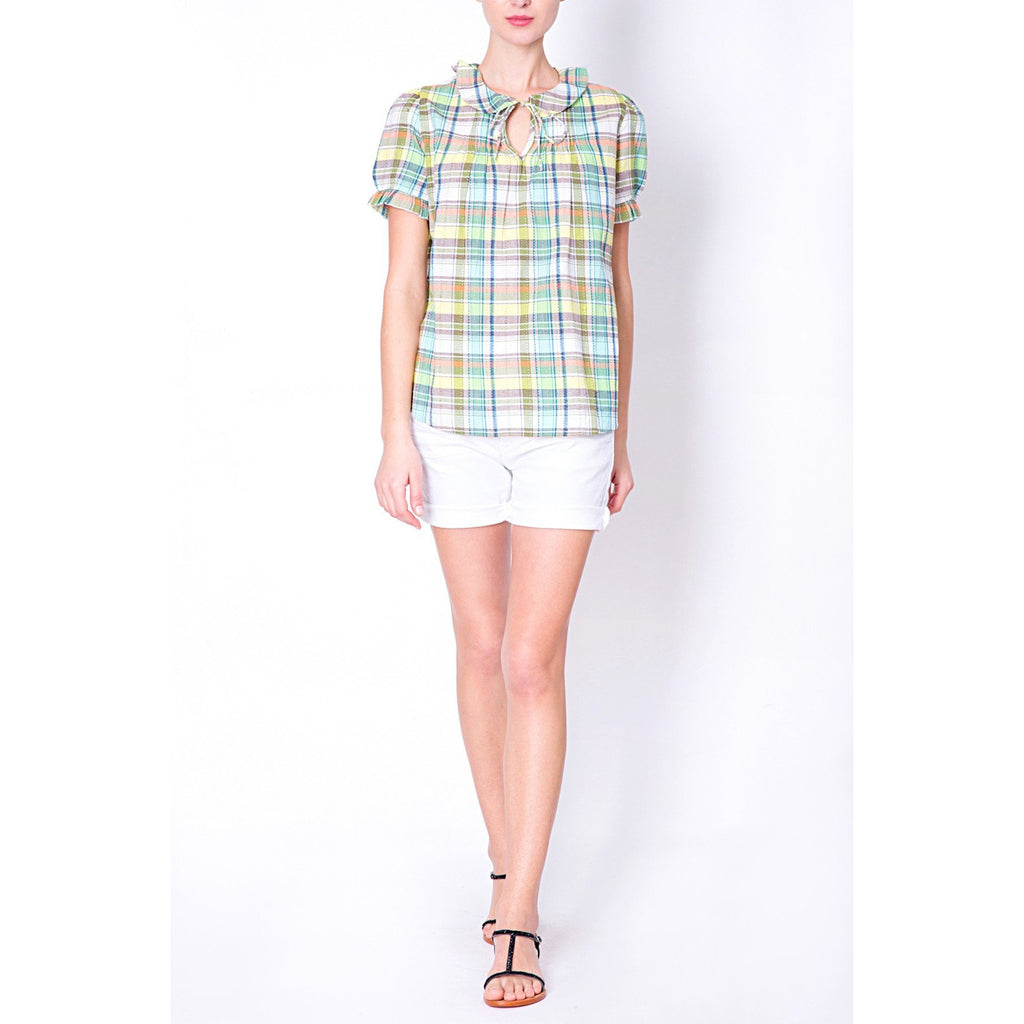 multicolor- checkered- shirt-vanessa bruno