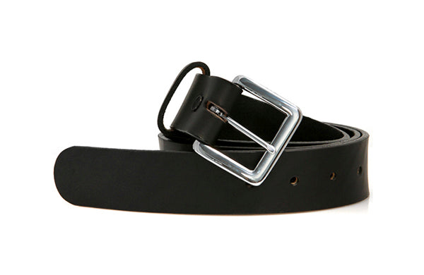 Men's Black Leather Belt by Paul Taylor - The Perfect Provenance