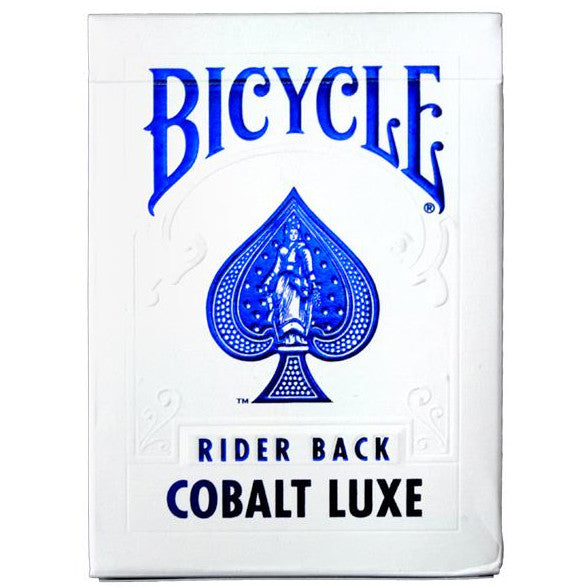 Blue Foil Cards Rider Back Cobalt Luxe by Bicycle