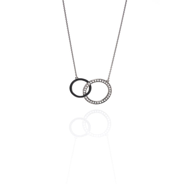 Silver-Circle-Diamond-Necklace