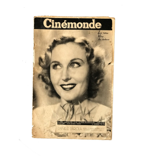 Vintage French Cinemonde Magazines - The Perfect Provenance